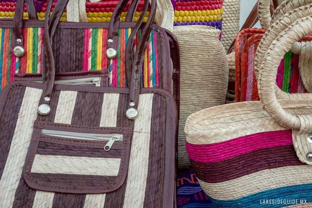Palm leaf purses and bags.