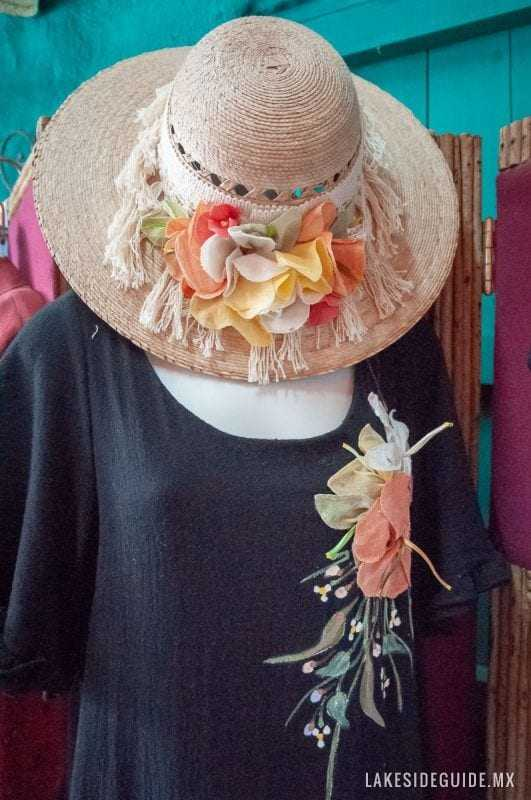 Decorated hats and blouses.