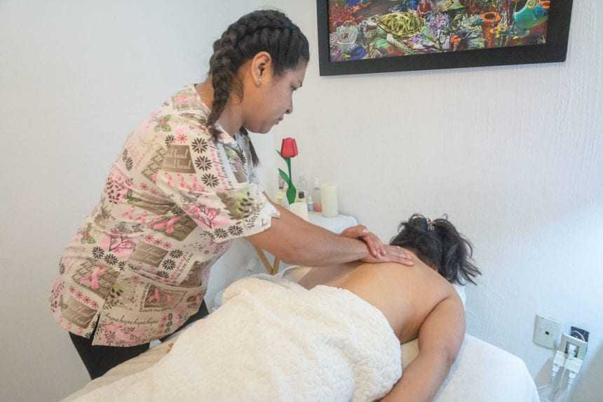 All three women are certified in therapeutic massage.