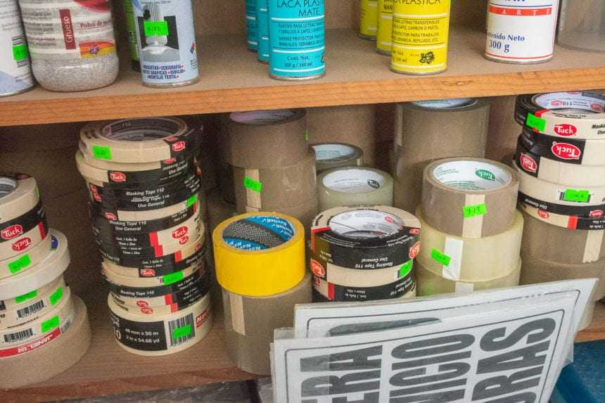Masking tape and other tapes.